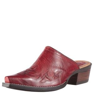 Ariat red slip on boots size 7.5